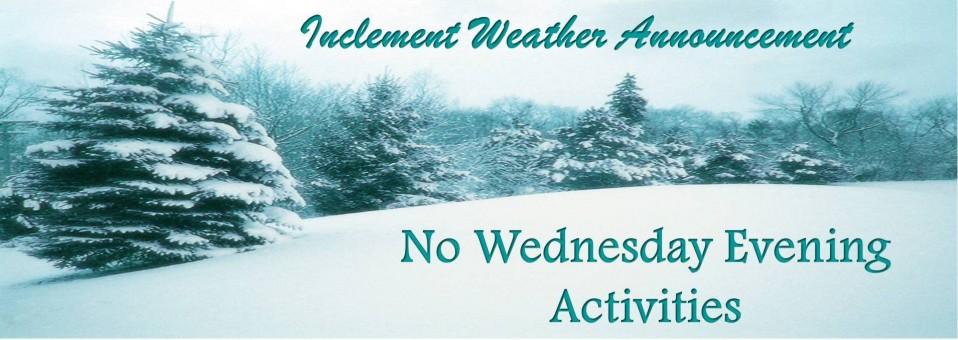 No Wednesday Activities